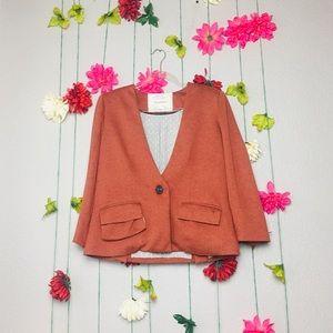 Anthropologie Cortonnier Burnt Orange Jacket  M